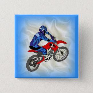 Motocross 201 15 cm square badge