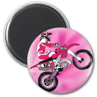 Motocross 303 6 cm round magnet