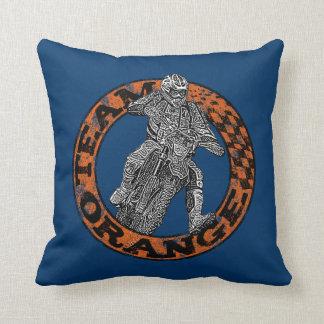 Motocross addict throw cushion