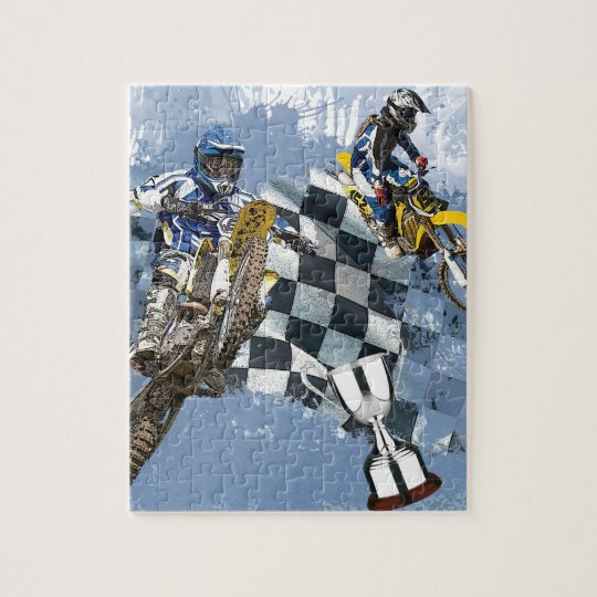 Motocross Blue Dreams Jigsaw Puzzle
