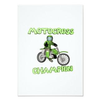 Motocross Champion 13 Cm X 18 Cm Invitation Card