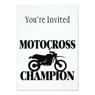 Motocross Champion Dirt Bike 13 Cm X 18 Cm Invitation Card