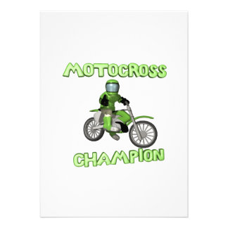 Motocross Champion Personalized Invitations