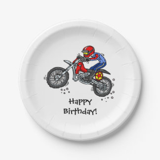 Motocross Dirt Bike Birthday Paper Plates