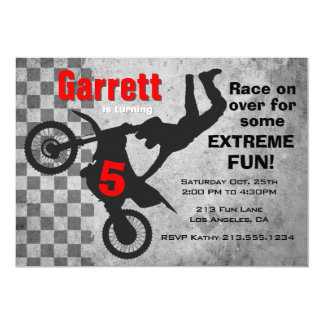 Motocross Dirt Bike Birthday Party Invitation