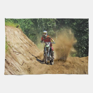 Motocross Dirt-Bike Champion Race Tea Towel