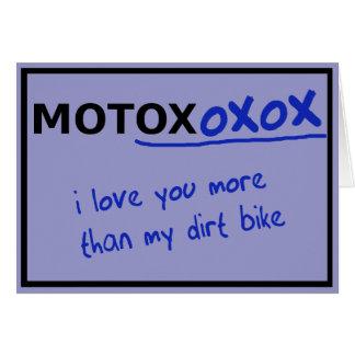 Motocross Dirt Bike Valentine's Day Card Funny
