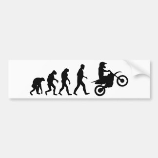motocross evolution bumper sticker