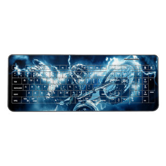 Motocross extreme sport wireless keyboard