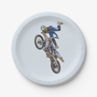 Motocross Extreme Tricks Paper Plate