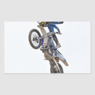 Motocross Extreme Tricks Rectangular Sticker