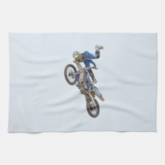 Motocross Extreme Tricks Tea Towel