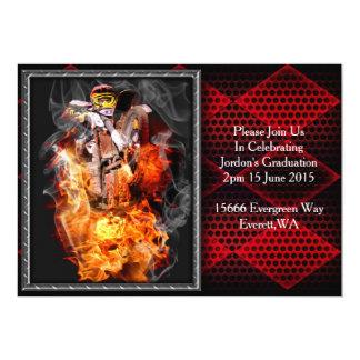 Motocross fire and smoke card
