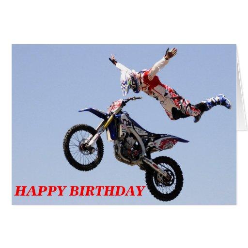 Motocross HAPPY BIRTHDAY Greeting Card