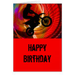 Motocross Light Streaks in a Windtunnel Greeting Cards