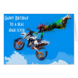 Motocross  Motorcycle Racing Birthday Card