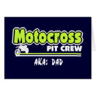 Motocross Pit Crew Dad Card