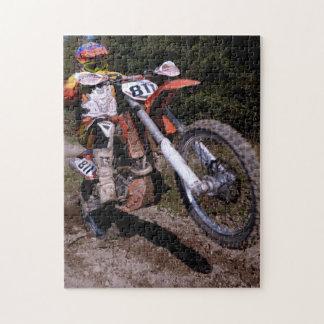Motocross popping a wheelie jigsaw puzzle