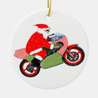 motocross racing ceramic ornament