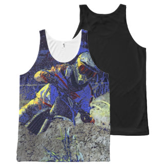 Motocross Racing Champion Racer All-Over Print Tank Top