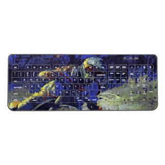Motocross Racing Champion Racer Wireless Keyboard
