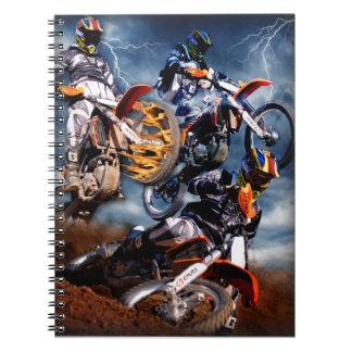 Motocross racing notebook