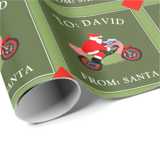 motocross racing wrapping paper