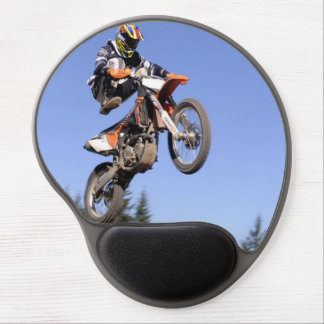 Motocross rider jumping high mouse pad