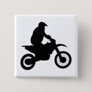 Motocross Silhouette 15 Cm Square Badge