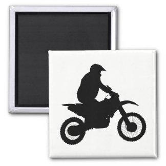 Motocross Silhouette Magnet