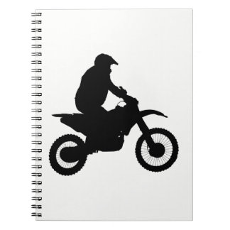 Motocross Silhouette Notebook
