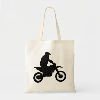 Motocross Silhouette Tote Bag