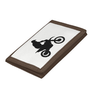 Motocross Silhouette Trifold Wallet