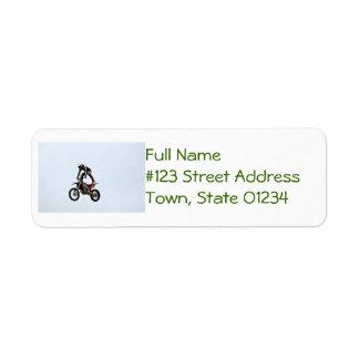 Motocross Tricks Return Address Label