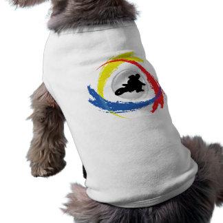 Motocross Tricolor Emblem Shirt