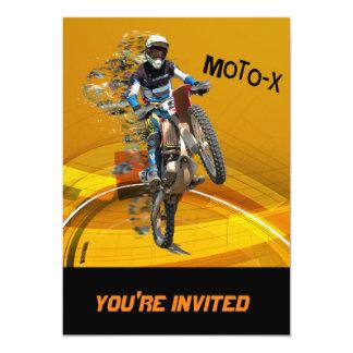 Motocross Wheelie in Pieces Abstract Desert Text Card