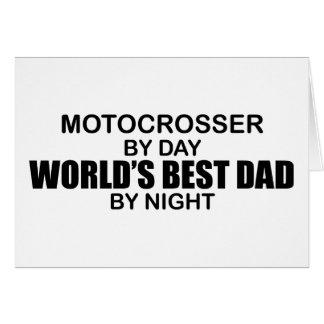 Motocrosser - World's Best Dad by Night Card