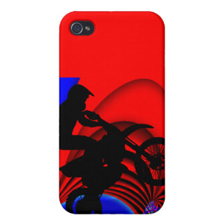 Motocrossing Going Loopy iPhone 4 Cover