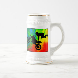 Motocrossing in a Solar Flare Up Coffee Mug
