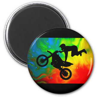 Motocrossing in a Solar Flare Up Refrigerator Magnet
