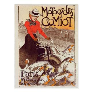 Motocycles Comiot - Paris Vintage Postcard