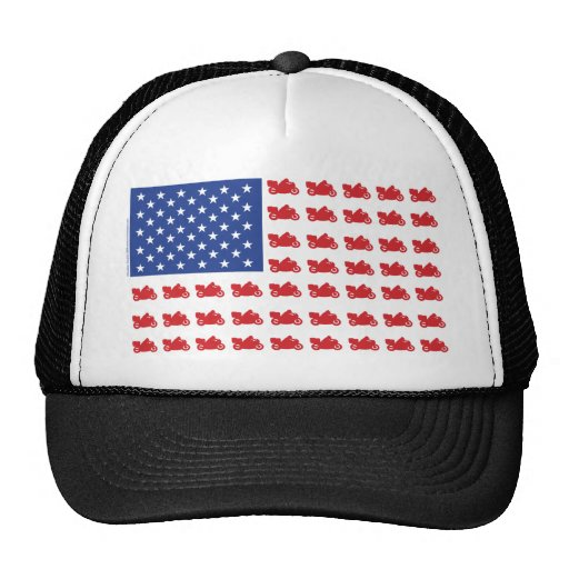 Motor-Cycle-Flag-Cruiser Mesh Hat