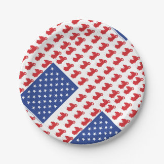 Motor-Cycle-Flag-WING 7 Inch Paper Plate
