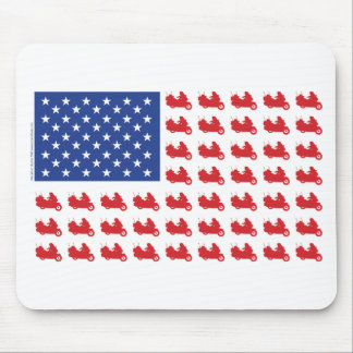 Motor-Cycle-Flag-WING Mouse Pad