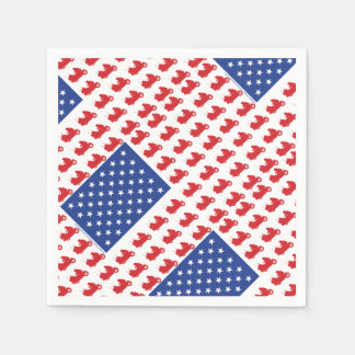 Motor-Cycle-Flag-WING Paper Napkin