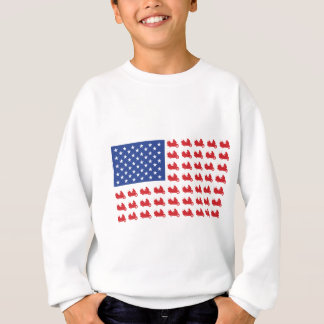 Motor-Cycle-Flag-WING Sweatshirt