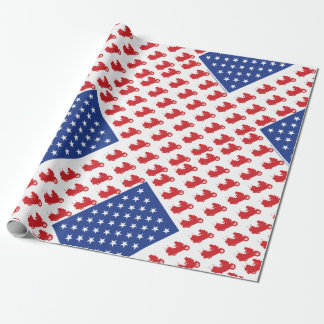 Motor-Cycle-Flag-WING Wrapping Paper