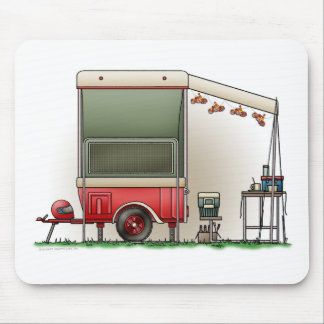 Motor Cycle Trailer Camper Mouse Pad