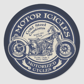 Motor Icicles Classic Round Sticker