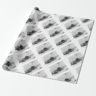 Motor sport anno 1907 wrapping paper